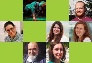 Collage of photos of some humans of EMBL discussed in this article