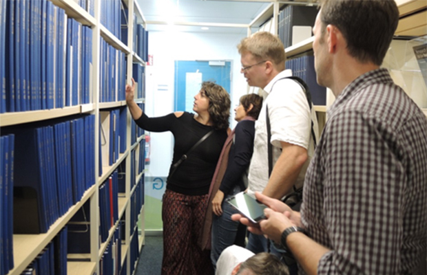 The group visited the Szilárd Library and they were delighted to see most of their PhD theses gracing the shelves