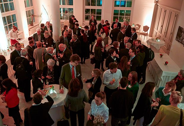 ERC Scientific Council members and local scientists get a chance to mingle at a reception and formal dinner at the Prinz Carl Palais in Heidelberg