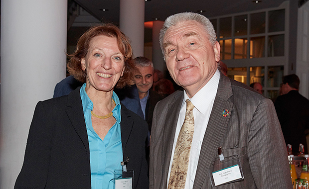 ERC President Jean-Pierre Burguignon and EMBO Director Maria Leptin at the reception.