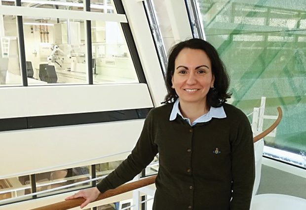 Maria Garcia Alai at the Sample Preparation and Characterisation Facility at EMBL Hamburg. PHOTO: EMBL/Joanna Pieprzyk