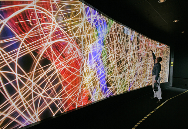 Exploratory Visualization Environment for Research and Technology (EVEREST) is a 3D visualisation room for the output data of the Oak Ridge National Laboratory's supercomputers.