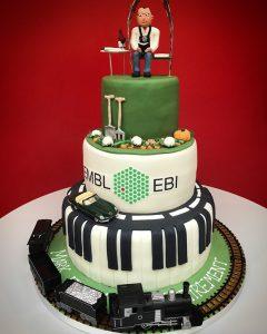 Mark's retirement cake.