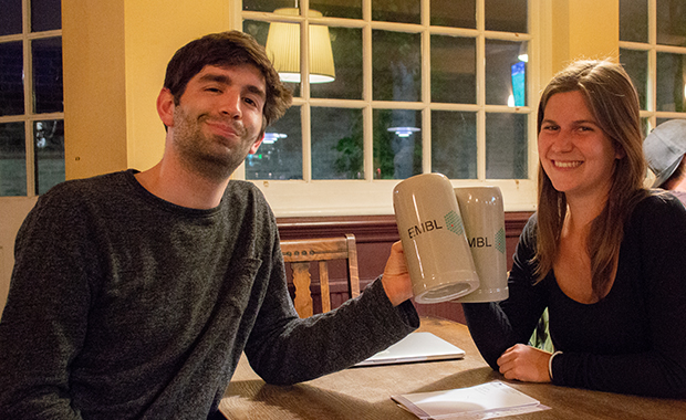 Maximilian Stammnitz and Lara Urban at Pint of Science..
