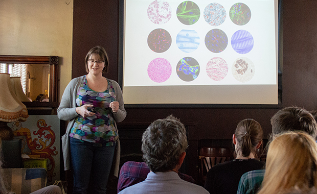 Laura Clarke presents her work as part of the Human Cell Atlas in Cambridge.