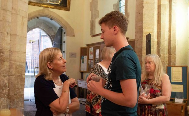 Janet Thornton and Cambridge student