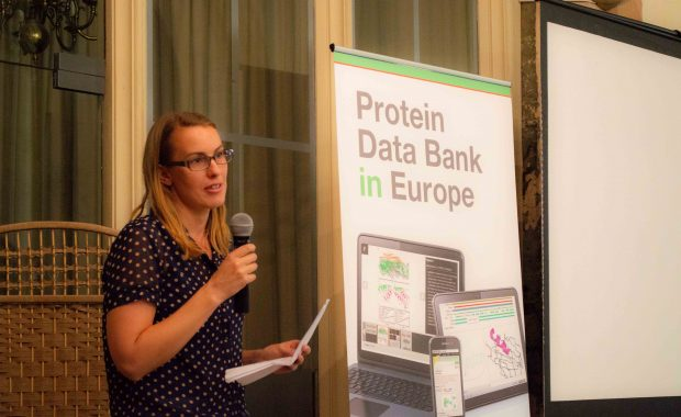 Alice Clark from EMBL-EBI - coordinator of the PDBe Art project