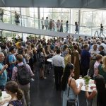 EMBL staff and alumni filled the EMBL ATC and enjoyed meeting old friends and making new connections. PHOTO: Photolab /EMBL