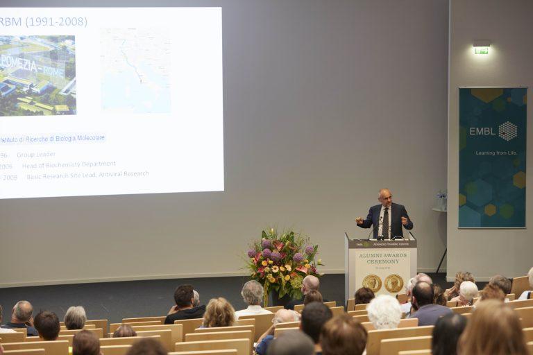 Raffaele De Francesco presented his work about antiviral agents as a cure for Hepatitis C. PHOTO: Photolab /EMBL