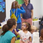 Activities included face painting. PHOTO: Photolab /EMBL