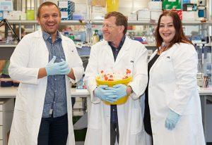 Members of GeneCore Jonathan Landry, Vladimir Benes and Anja Telzerow.