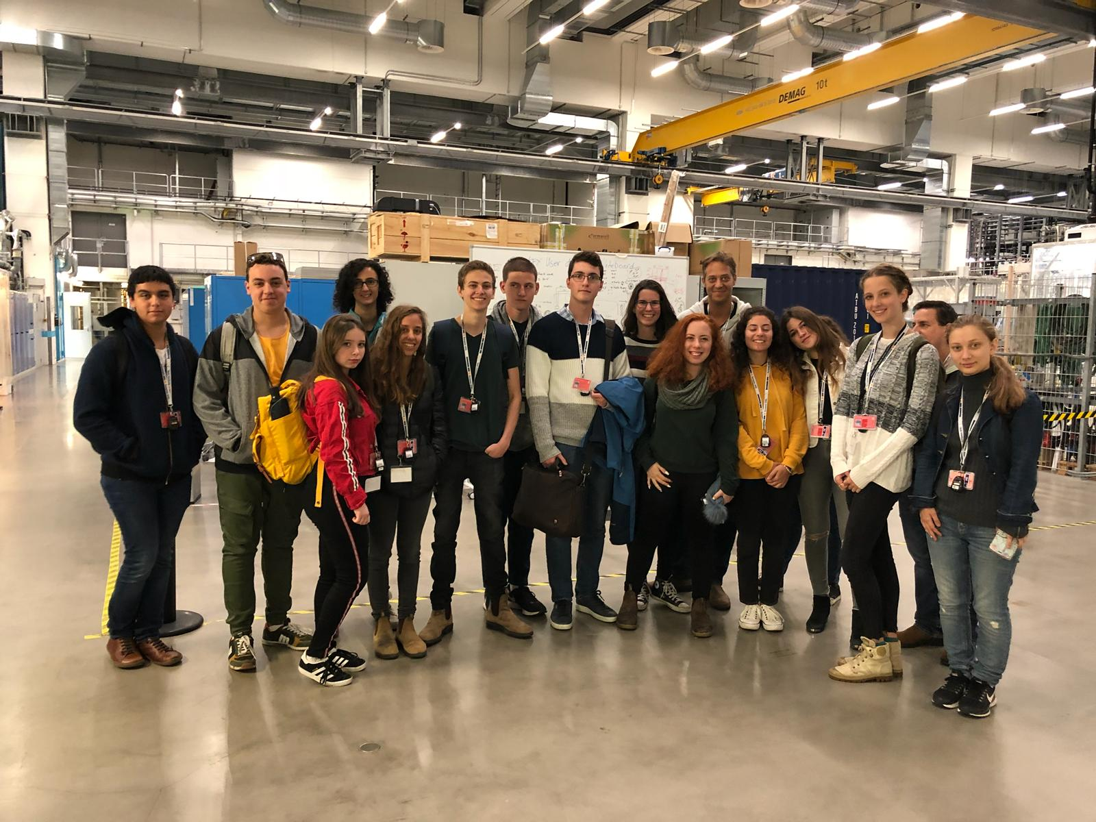 A group of students in the DESY facilities.