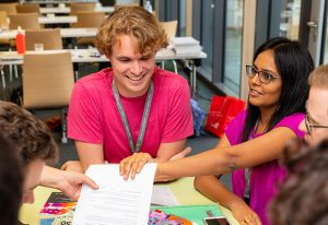EIPOD postdocs work together as part of the Corporate Summer School.