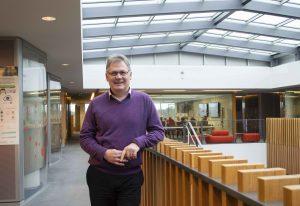 New Open Targets Director, Ian Dunham in EMBL-EBI South Building