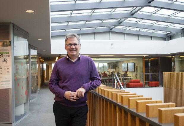 New Open Targets Director, Ian Dunham in EMBL-EBI South Building