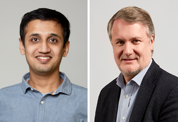Tanmay Bharat and Patrick Baeuerle, winners of the EMBL's 2019 alumni awards