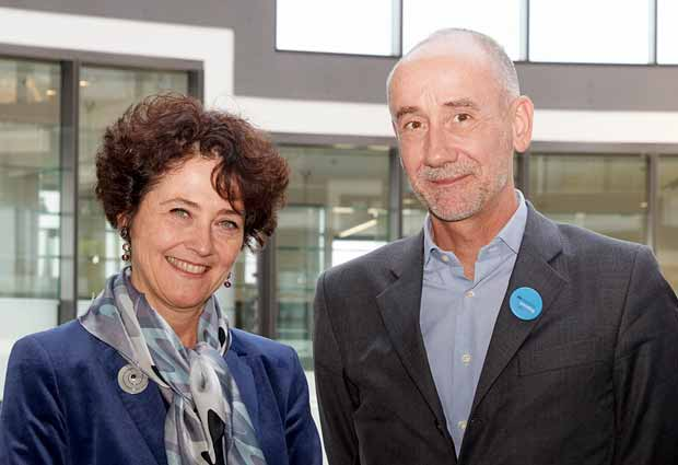 Edith Heard, EMBL Director General, and Jean-Eric Paquet, Director General of Research and Innovation at the European Commission.