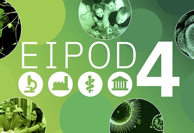 EIPOD4 logo banner showing the 4 available tracks, research, industrial, clinical and academic.