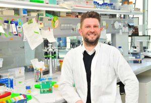 Alessandro Ori in the lab