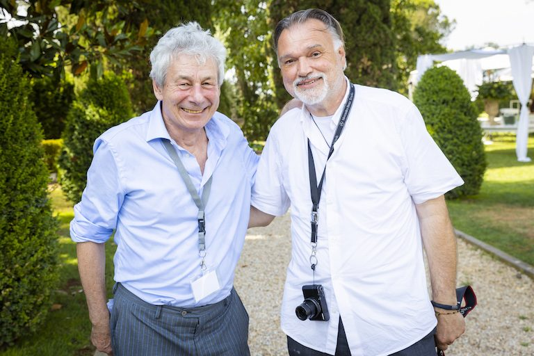Phil Avner, Head of EMBL Rome, with photographer Horst Hamann, who joined the anniversary event for a special project. PHOTO: Massimo Del Prete/EMBL