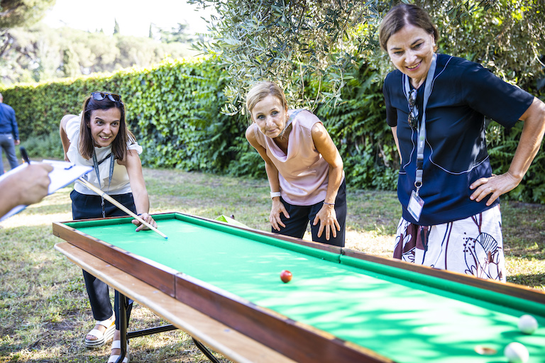 Guests enjoyed various games, including pool and darts. PHOTO: Massimo Del Prete/EMBL