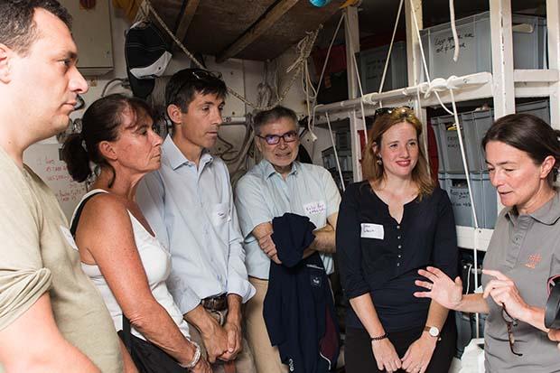 Elodie Bernollin gives a tour aboard Tara