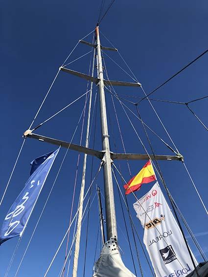 The mast of the Tara boat