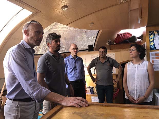 Group photo aboard Tara