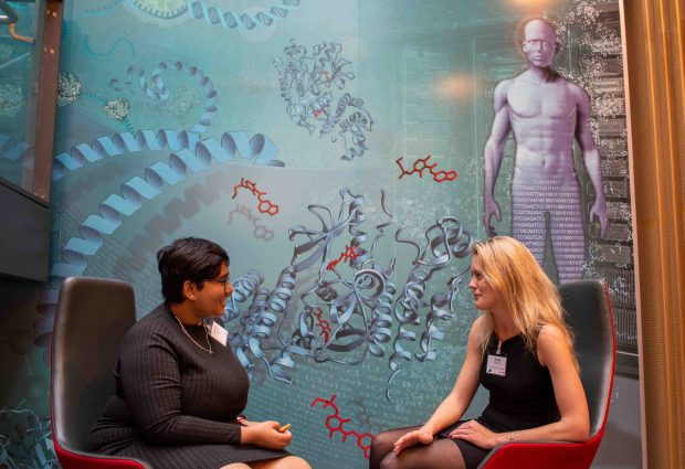 Emma Colliver and Sampurna Mukherjee discuss science, PhD life and more at the EMBL–Crick PhD Symposium.