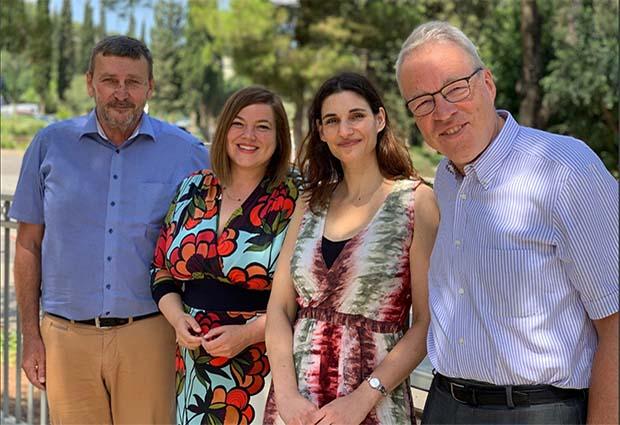Meytal Landau with Thomas Dobner, Katharina Fegebank and Matthias Wilmanns