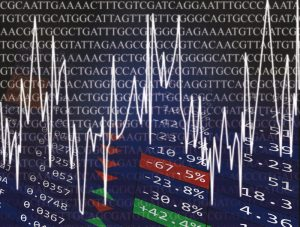 Abstract image showing DNA code