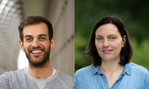 EMBL's Equality and Diversity Officers. Zac O'Sullivan (left) and Luisa Vieites Rodrigues (right)