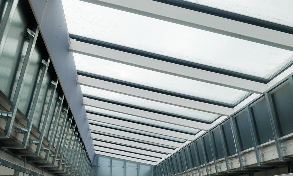 A row of ceiling windows