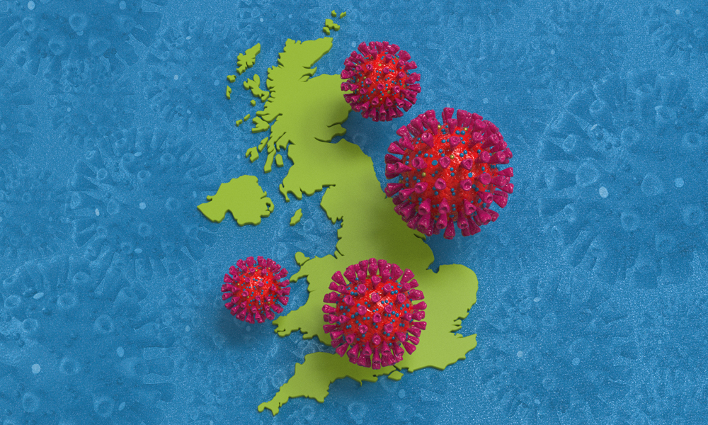 B.1.1.7 coronavirus lineage in UK