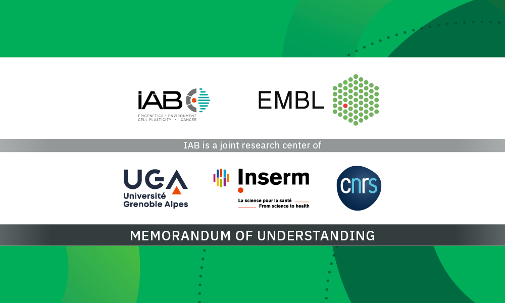 IAB and EMBL logos highlight the Memorandum of understanding between the organisations.