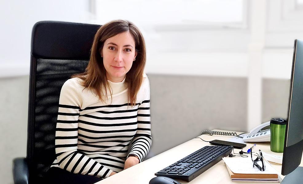 Ana Boskovic sitting in her office