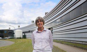 Liz Duke in front of the PETRA III synchrotron.