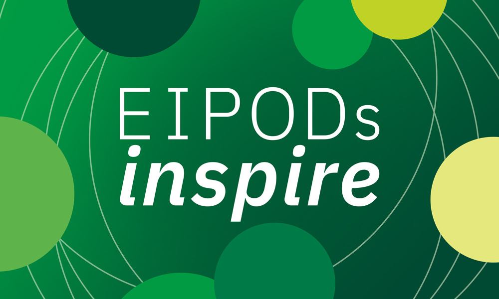 The green logo of the EIPODs Inspire mentoring scheme