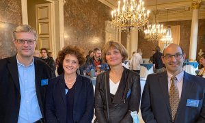 EMBL Director General Edith Heard meeting with members of the Belgian science community