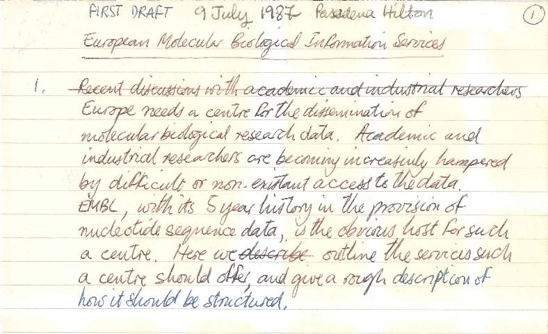 hand-written page